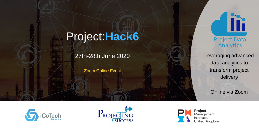 "Project:Hack logo banner which says ""Project:Hack 6, 27th - 28th June 2020. Zoom online event"""